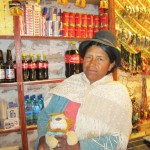 A shop-seller in Uyuni
