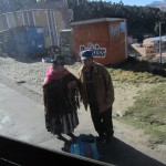 An elderly woman and gentleman in La Paz