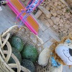 Lewis the Lion with a basket of cactus fruit