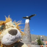 A condor is the centre-piece in the town of Cabanaconde