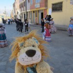 Lewis sees children practising traditional dancing in the streets