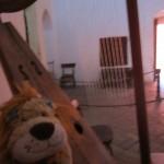 Lewis strums a harp!