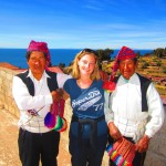 Helen meets some local weavers