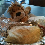 Lewis the Lion eats the biggest burrito of his life!