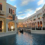 The shopping complex looks like a sparkly Venice
