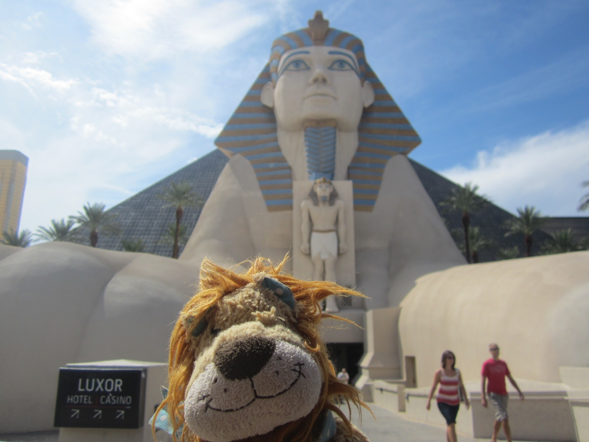 Lewis Stands Beside The Giant Sphinx