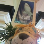 Lewis the Lion gets nervous at the thought of seeing sharks