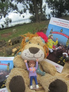Lewis the Lion feels very lucky to be attending this year's Melbourne Cup with his friends