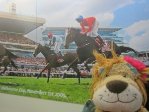 Lewis the Lion is looking forward to seeing the main race of the day