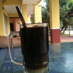 A Malaysian coffee with milk at the bottom