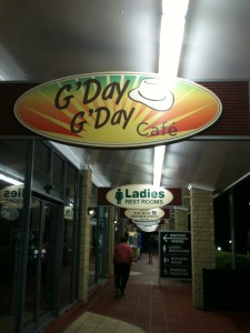 A true Australian motorway café - The G'Day G'Day café
