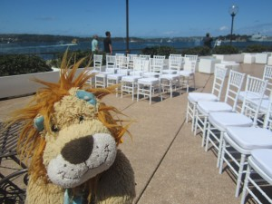 Someone's getting married with a fabulous view!