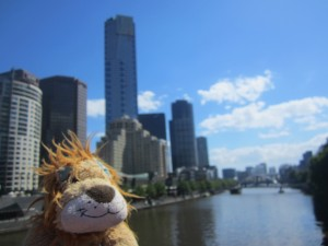 Lewis the Lion loves the sunny Southbank