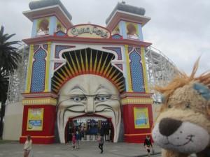 The Luna Park entrance at St Kilda