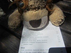 Lewis the Lion spots something interesting on this Aussie menu. Can you?