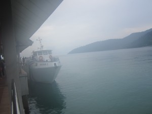 The ferry arrives in a steamy Tekek, Tioman