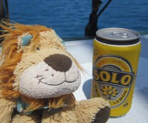 Lewis the Lion with an Australian lemonade