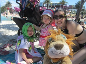 A cool day spent on the Brisbane beach with the family
