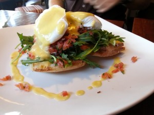 Eggs Montreal - a deliciously filling breakfast at the Site Café