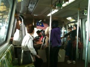 Catching the Kuala Lumpur monorail