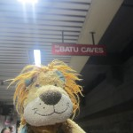 Lewis the Lion gets ready to board the train to the Batu Caves