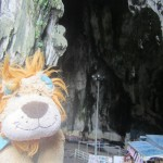 Lewis the Lion at the entrance to the Batu Caves