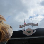Lewis the Lion looks forward to having a good cup of tea!