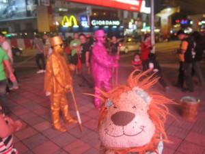 Lewis the Lion enjoys Kuala Lumpur's vibrant street life