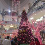 Shopping malls are adorned with Christmas decorations