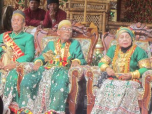 The Sultan and Sultana of South Sulawesi in their finery