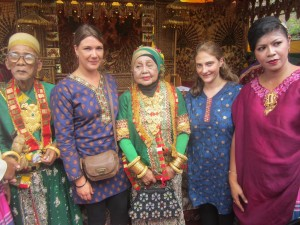 Helen and Marion have their photo taken with the Sultan and Sultana