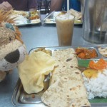 Lewis the Lion with Southern Indian cuisine in Kuala Lumpur
