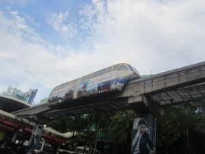 KL's monorail rides high above the city streets
