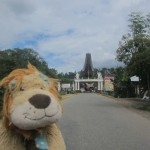 Lewis the Lion is happy to see the welcome sign to Tana Toraja