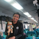 Dushyant and Lewis the Lion board the train to Jhansi