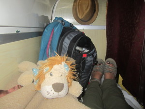 Settling in for the night on the 3rd bunk up!
