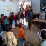 """Head, Shoulders, Knees and Toes"" in a village school"