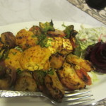 Indian cheese - Paneer and vegetable salad
