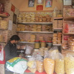 A dry-food store in New Delhi