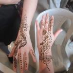 Two henna designs