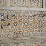 The mausoleum has exquisite inlay work