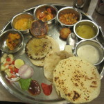 Thali - lots of different foods all on the same platter