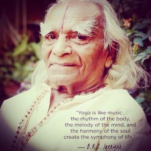A yoga guru - B.K.S. Iyengar