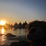 Lewis savours the sunset over Orccha
