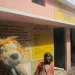 Lewis the Lion visits an Indian village school