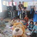 Lewis is very happy to meet children in school