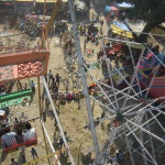 A view from the top of the Alipura fair