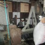 The weaving looms in the silk rooms of Varanasi