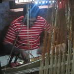 A traditional Varanasi weaver at work