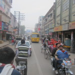 The lively Varanasi streets